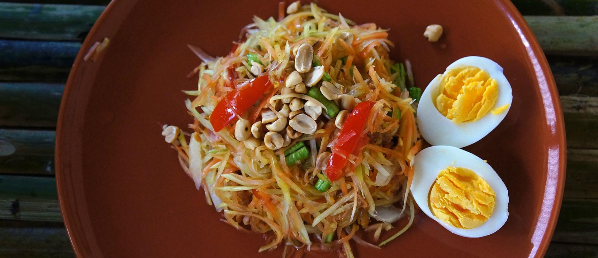 slider papaya salad